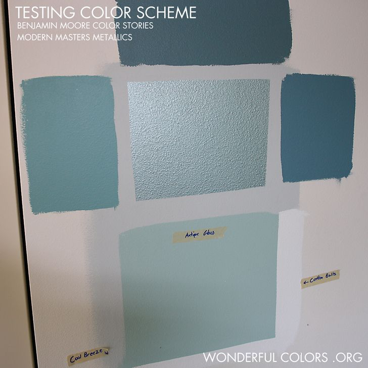 Testing benjamin moore paint color stories