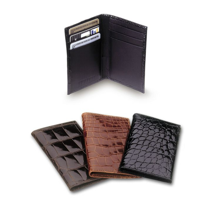 be37a5aaec Card Case Vertical Alligator $250 | Alligator Wallets | Alligator ...
