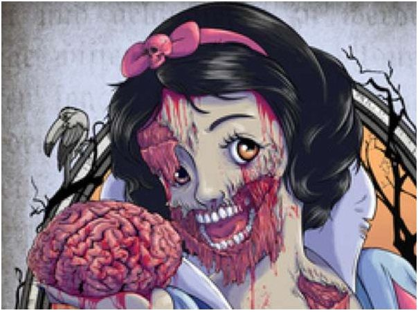 Zombie Disney Characters Drawings Snow White Zombie-Zomb...