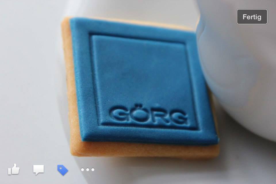 Logo-Kekse für #messen und #event