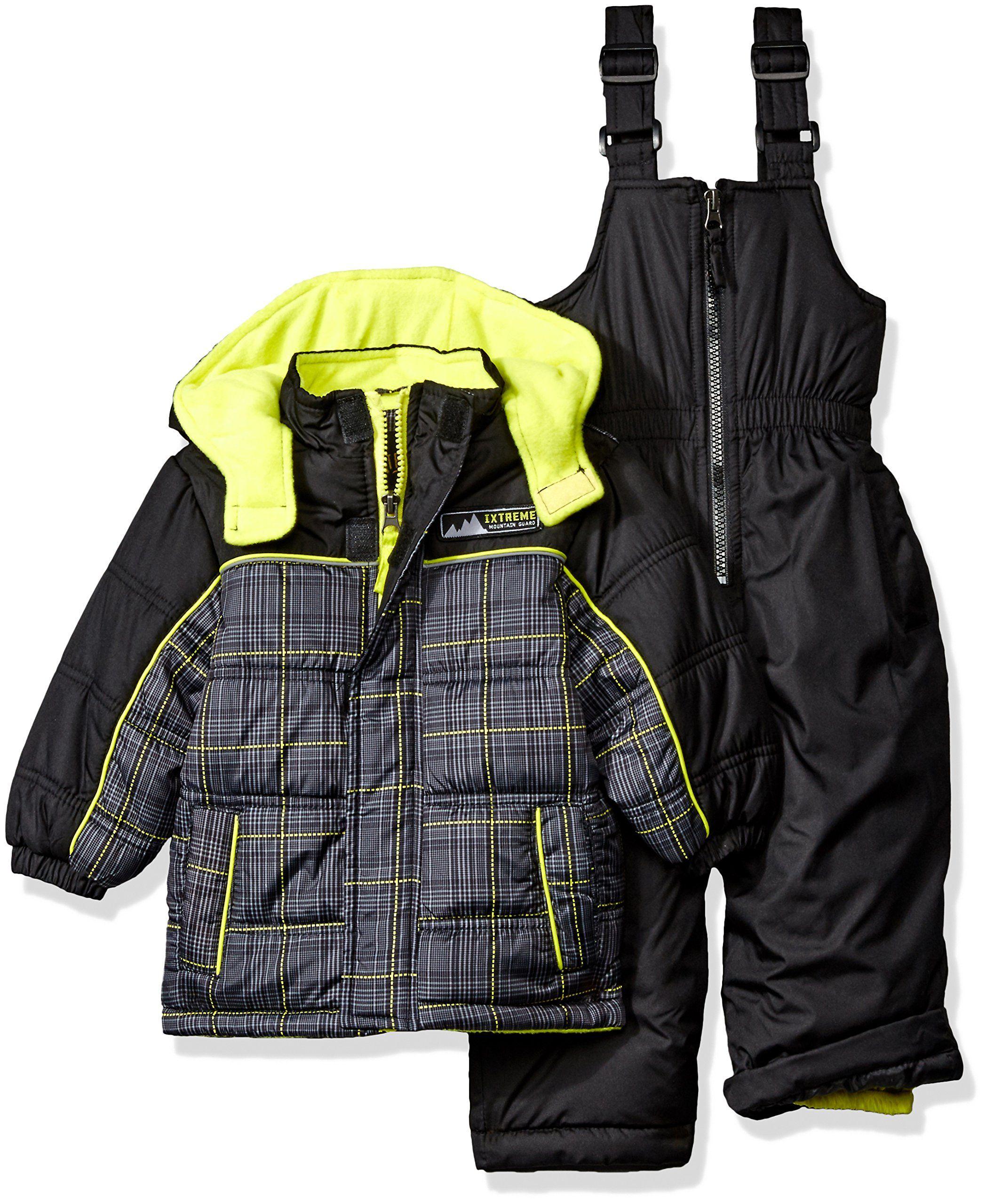 90171a8e9 iXtreme Little Boys  Plaid W  Pop Printed Snowsuit