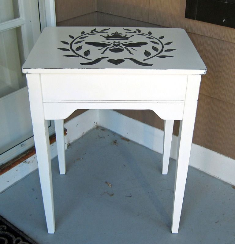 Refurbish Kitchen Cabinets: Old Sewing Machine Cabinet Refurbished With Annie Sloan