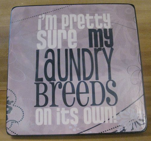 From Crap in the Craft Stash to Cute Laundry Room Artwork Laundry