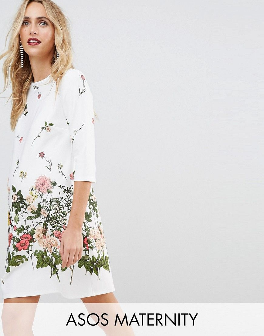 Get this asos maternitys casual dress now click for more details get this asos maternitys casual dress now click for more details worldwide shipping asos maternity botanical floral shift dress white maternity dress ombrellifo Choice Image