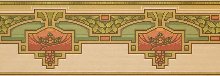 Bradbury Arts & Crafts Home Design Arcadia Wallpaper