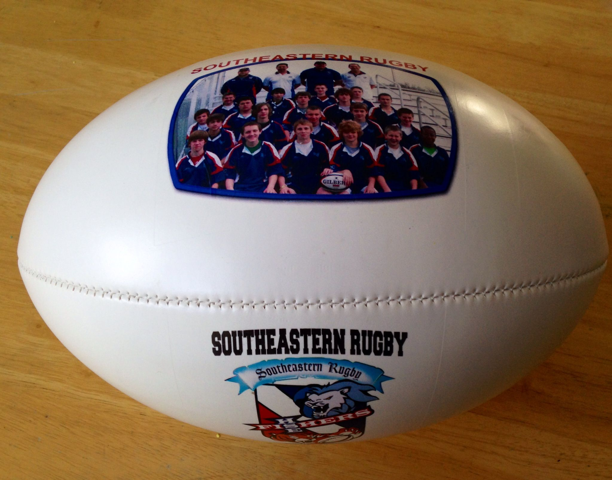 Personalized Rugby Balls Done By Get On The Ball Photos Are Great Gifts For The Coach And Players There Are Three Sides T Rugby Balls Sports Gifts Rugby Ball