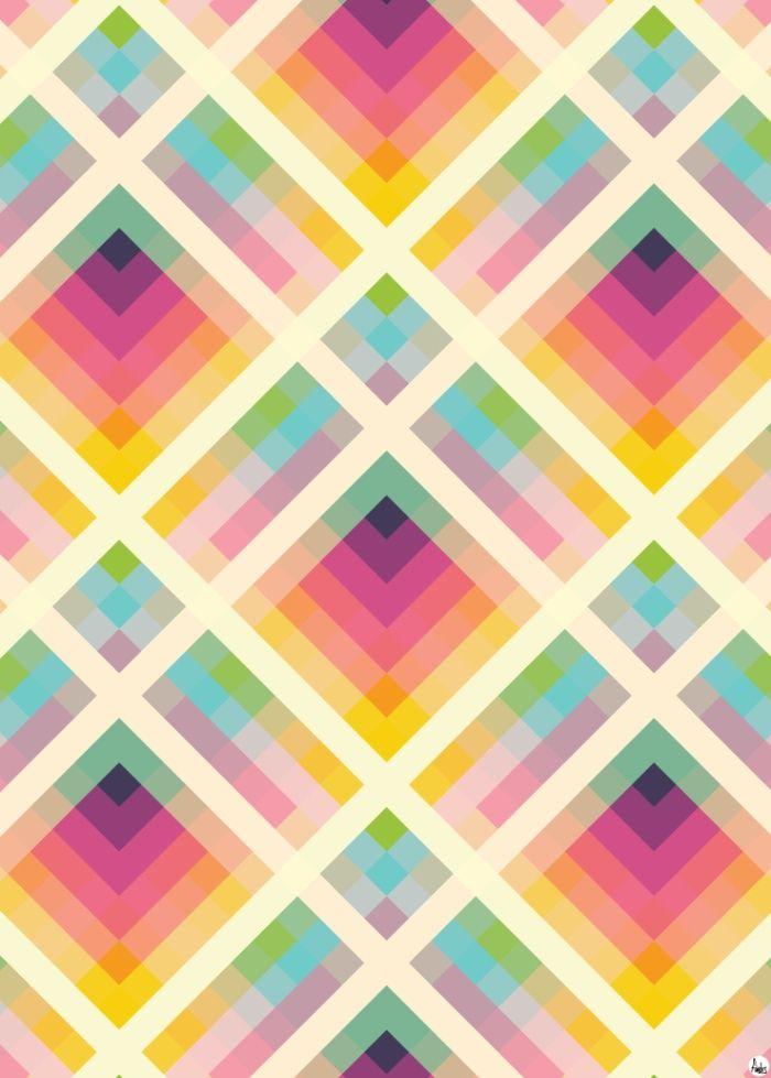 Geometric Retro Colourful Purple Retro Prints Rainbow Art Retro Background