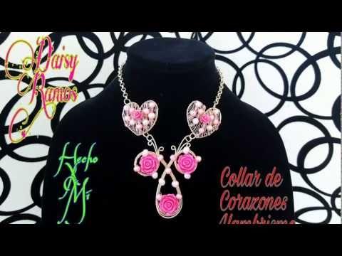 2aa96d63cd40 Collar de Corazones Alambrismo