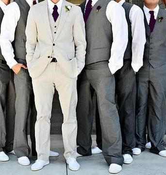 royal purple in grey suits
