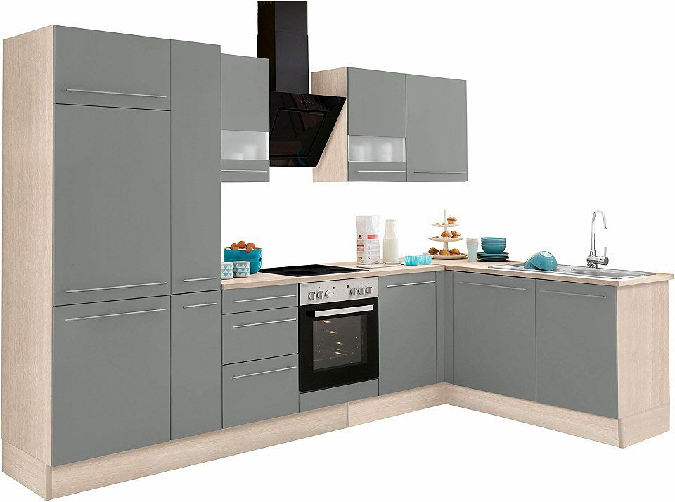 Optifit Winkelküche mit E-Geräten »Bern«, Stellbreite 315 x 175 cm - küchenzeile 240 cm mit geräten