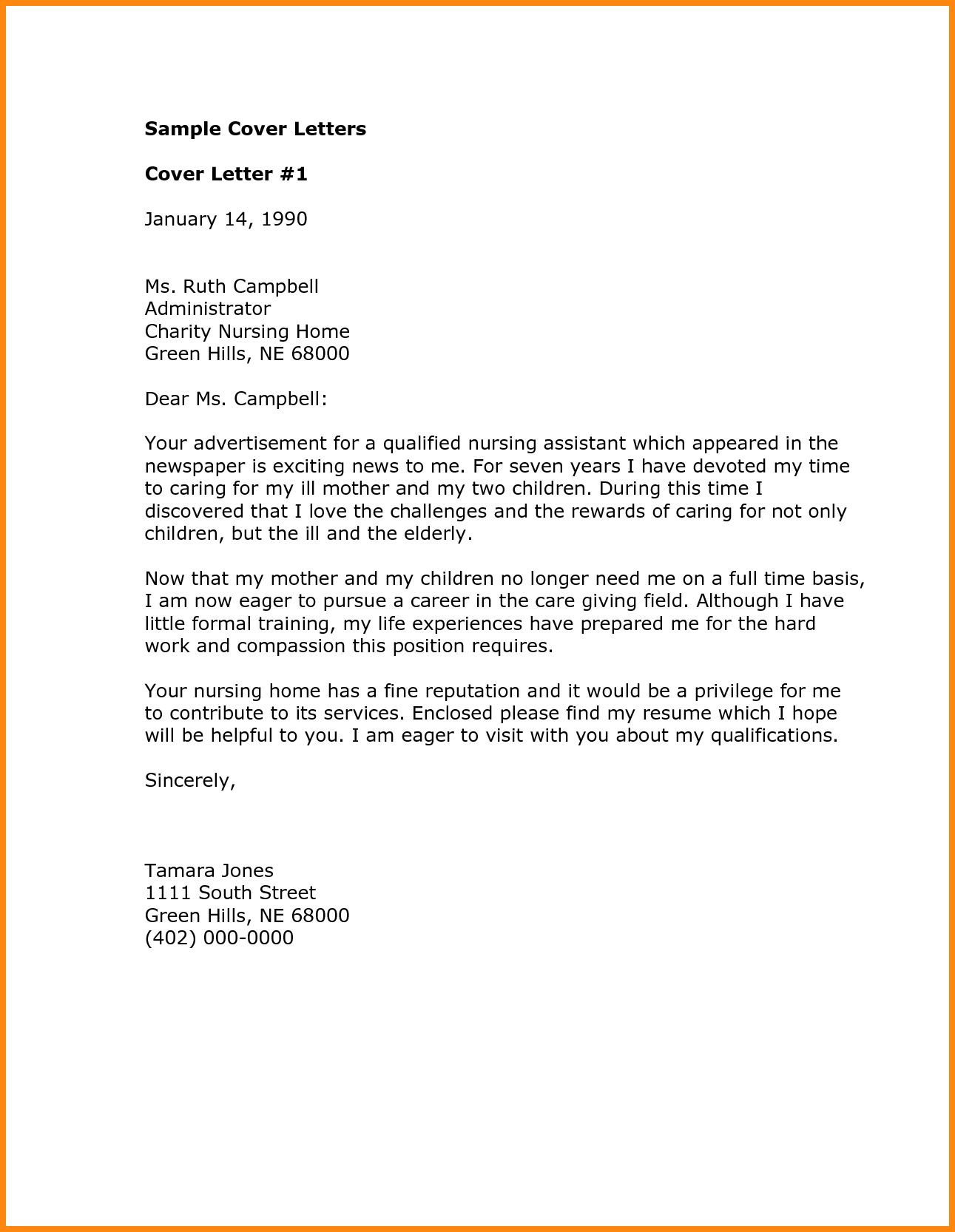 30+ Cover Letter Template Word | Cover Letter Designs | Pinterest ...