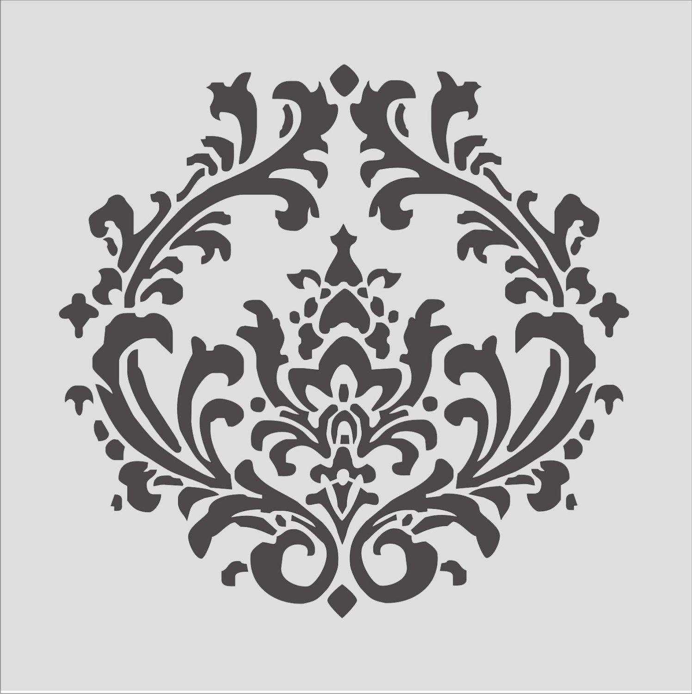 Stencil Damask pattern 43 Flourish Wall stencil by