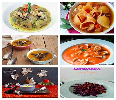 Primeros platos especiales para das de fiesta Primeros platos