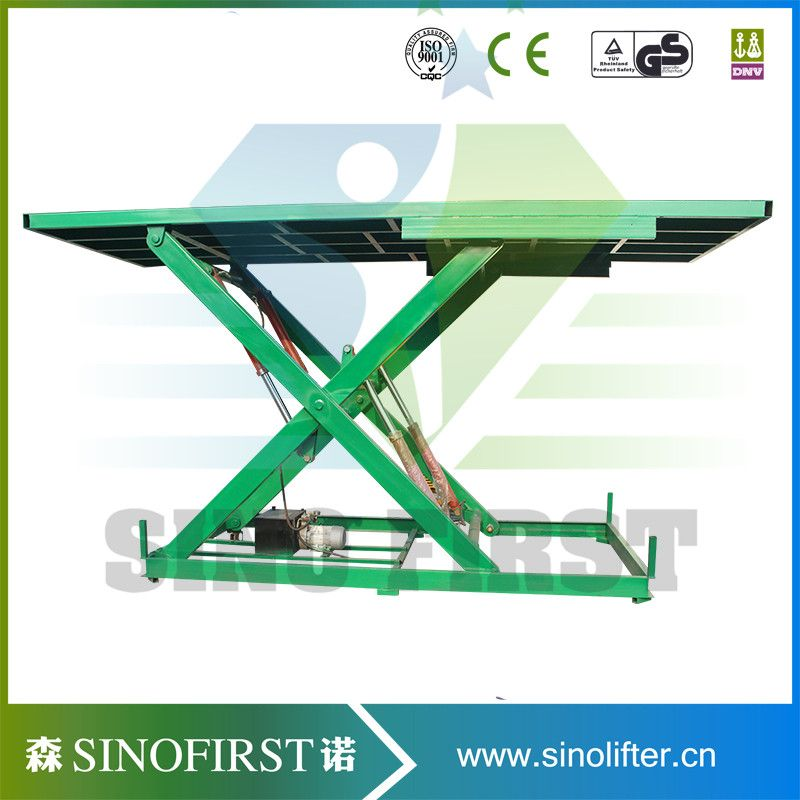 Hydraulic Roller Lift Platform Stationary Scissor Roller Table Lift ...