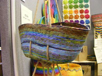 machinequilter: Full Circle: Helen Deighan's Coil Baskets