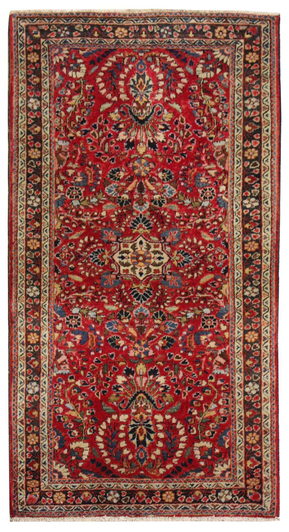 Cod. 10819 Saruk Antico 144x75 tappeto persiano antique