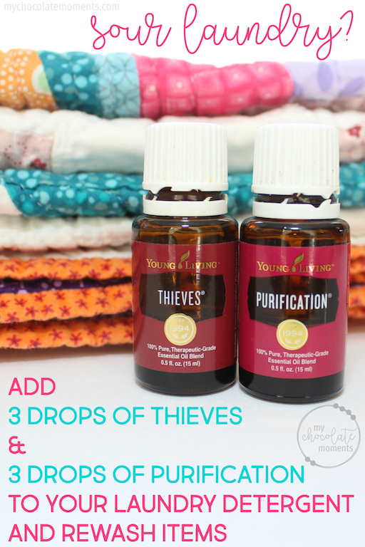 Get rid of sour laundry stink with Young Living essential oils