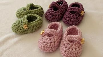eaf2843fb FREE Crochet Baby s 1st Mary Jane Booties - YouTube