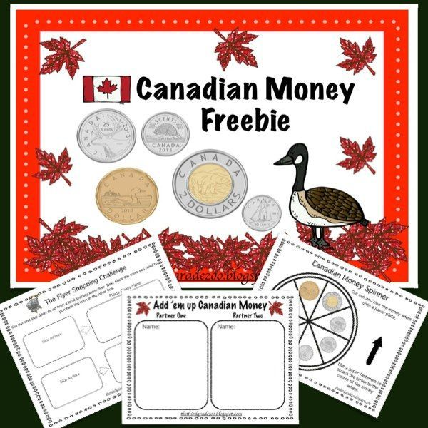 this canadian money freebie contains two hands on activities to help your students practice the. Black Bedroom Furniture Sets. Home Design Ideas