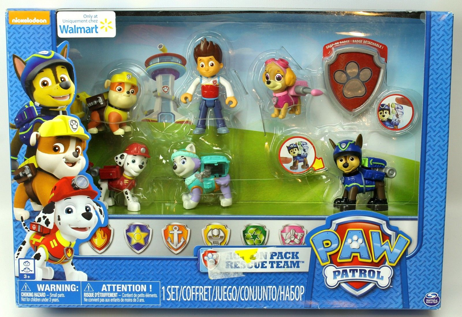 Paw Patrol 6 Pack Action Set Rescue Team Skye Everest Rubble Chase Marshall