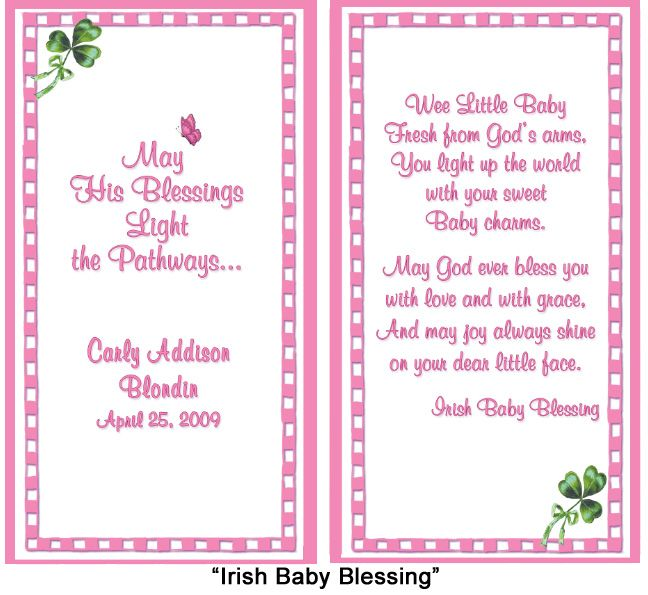 Baby Poems And Quotes: Card Verse For Baby Christening Or Baptism
