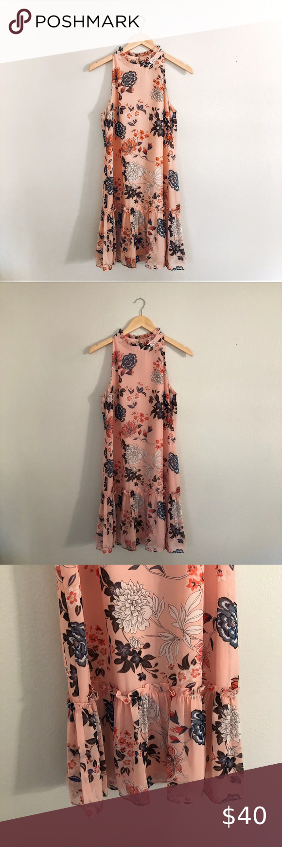 Vince Camuto Pink Floral Dress Lace Blue Dress Pink Floral Dress Floral Blue Dress [ 1740 x 580 Pixel ]