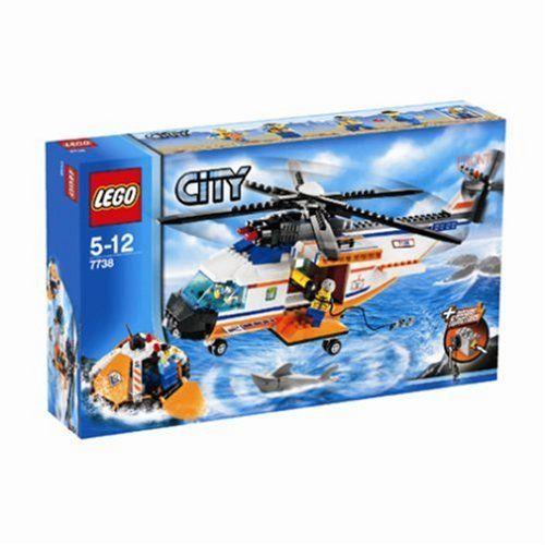 Lego City 7738 Helikopter Der Kstenwache Mit Rettungsinsel Lego