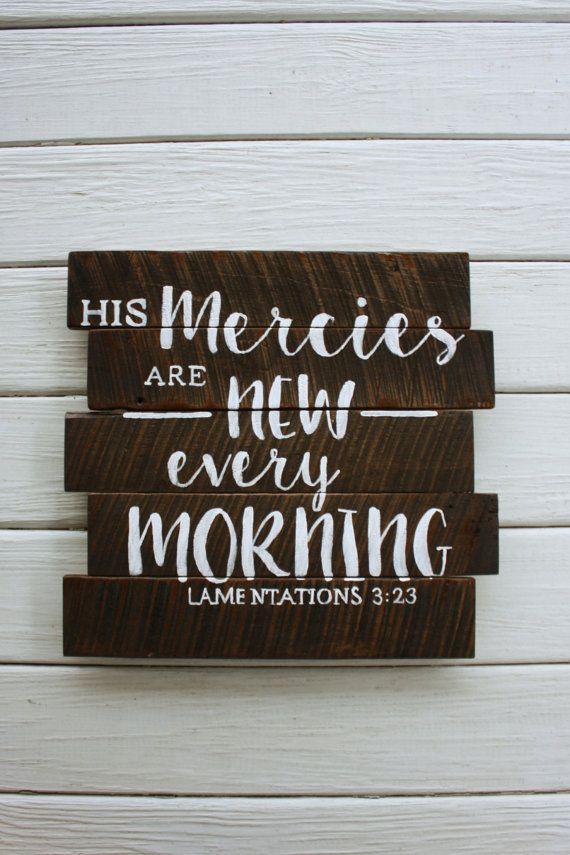 Lamentations 323 Inspiration Bible Verse Sign Wall