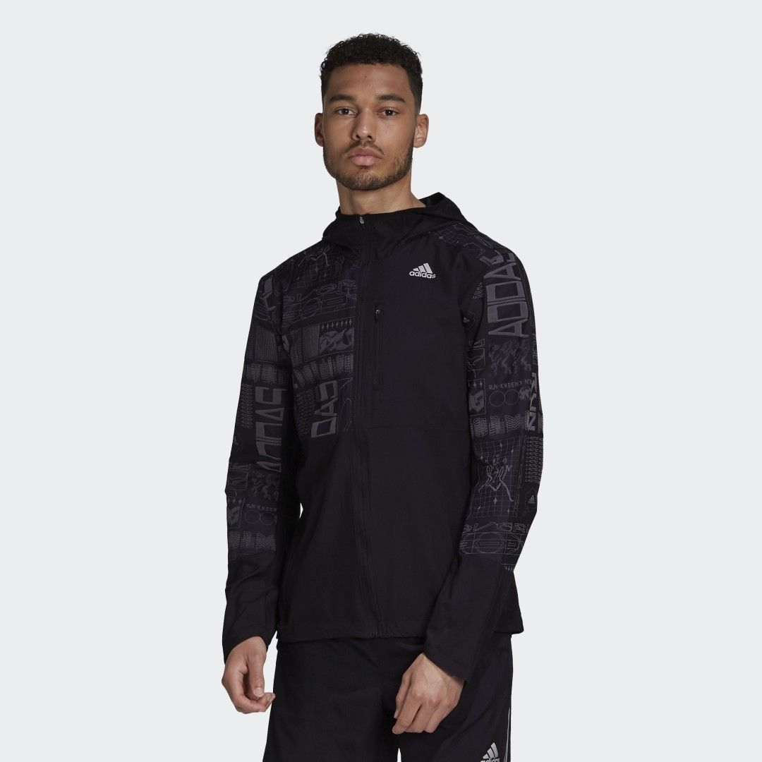 Own the Run Reflective Jacket Black Mens