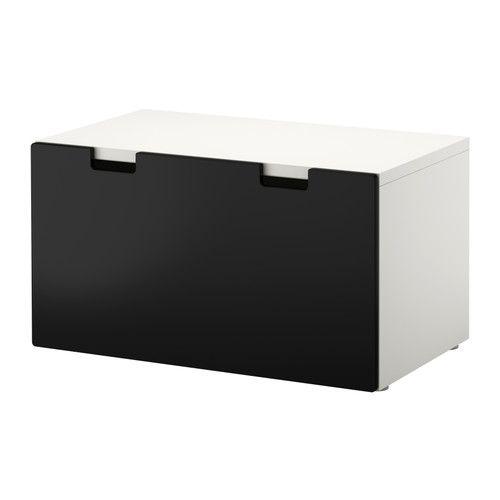STUVA Banco con cajón - blanco/negro - IKEA | Cosas que comprar ...
