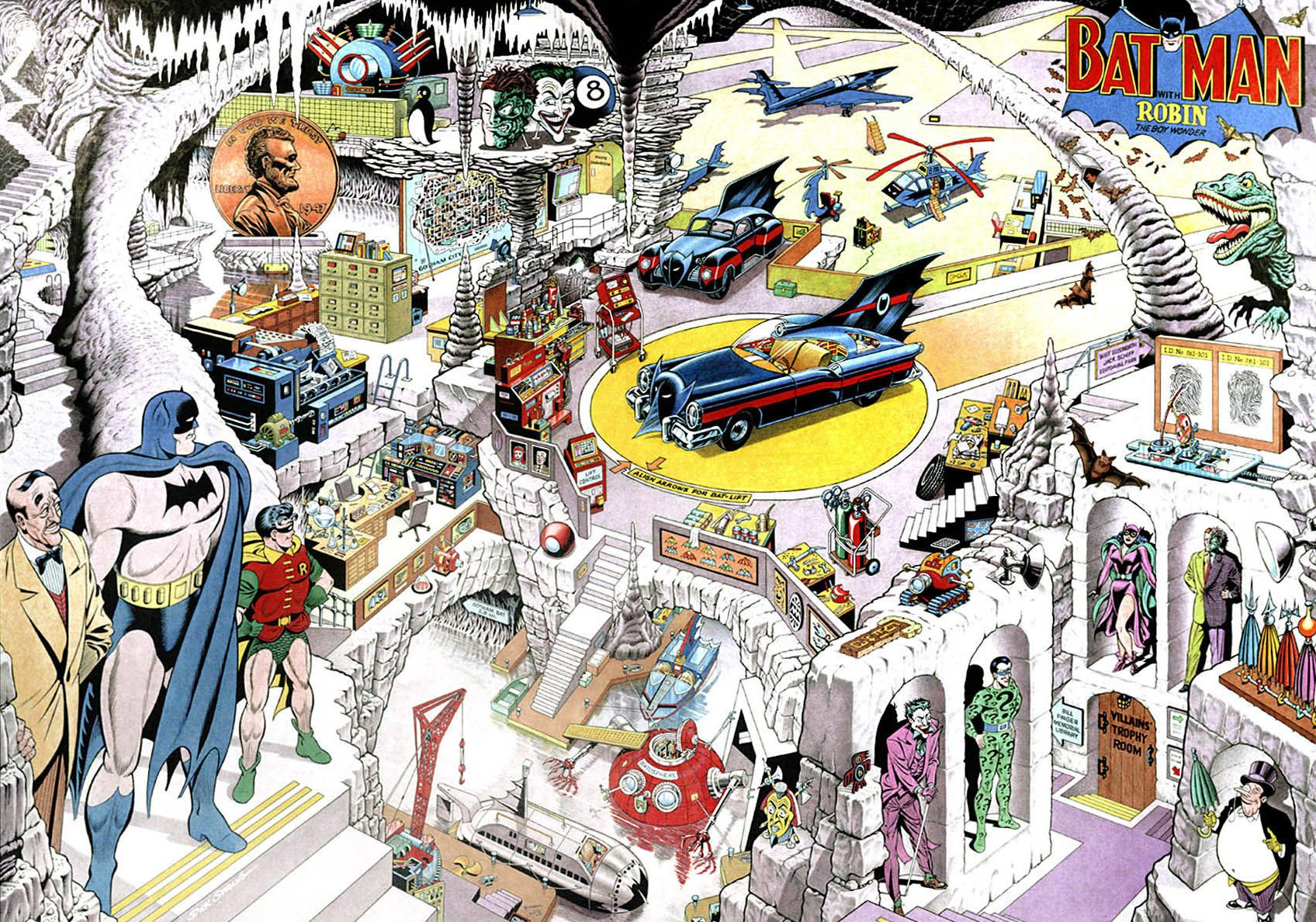 Fricking Awesome Maps From the Silver Age of Comic Books | Batman ...