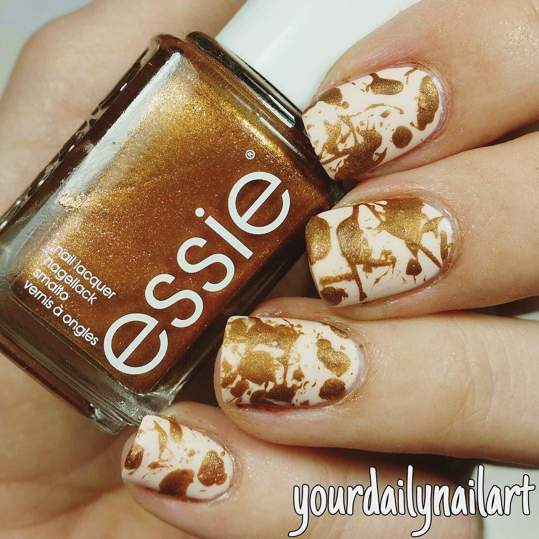 Splatter nails . @essiedeutschland leggy legend . #yourdailynailart ...