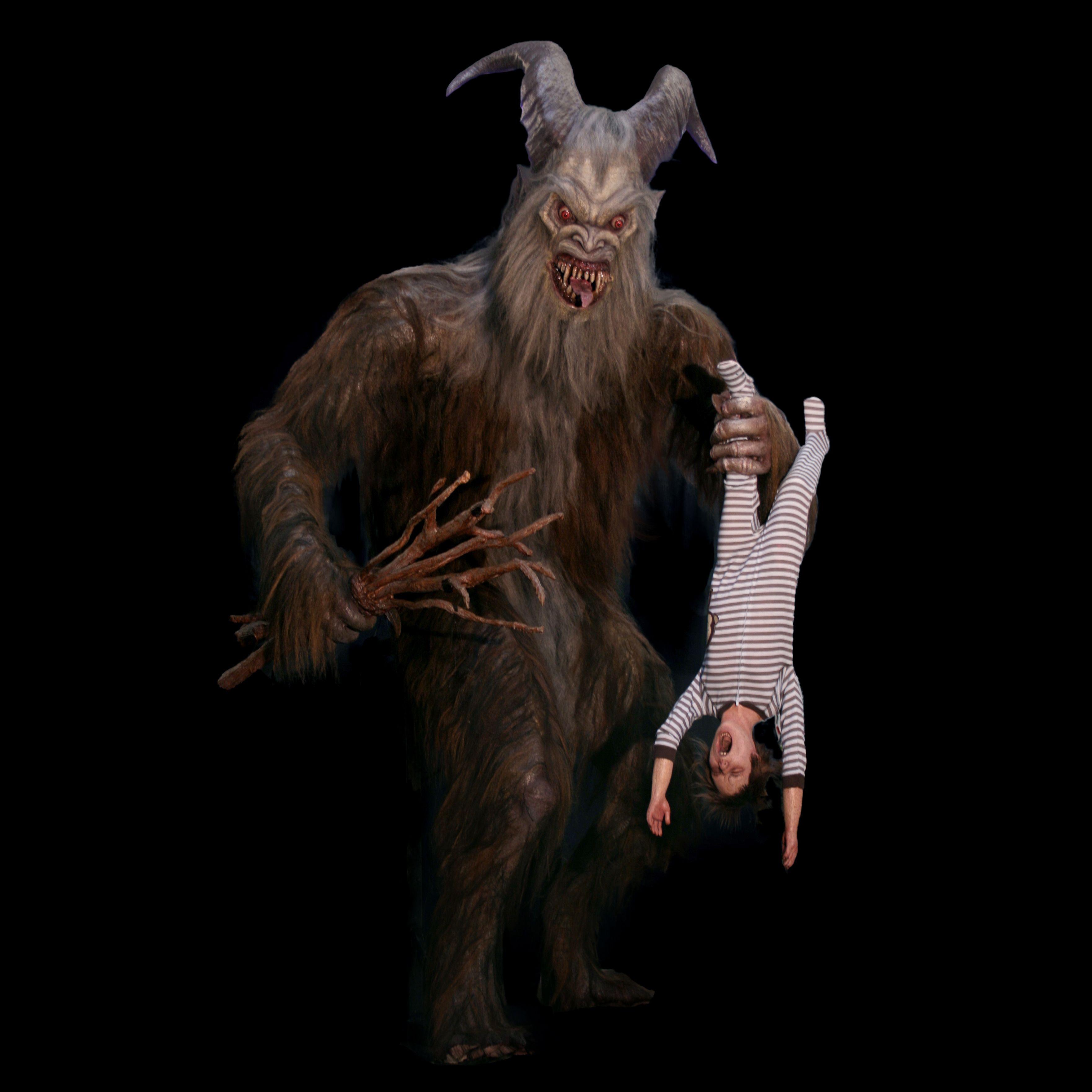 Giant Krampus And Child Animated Halloween Krampus
