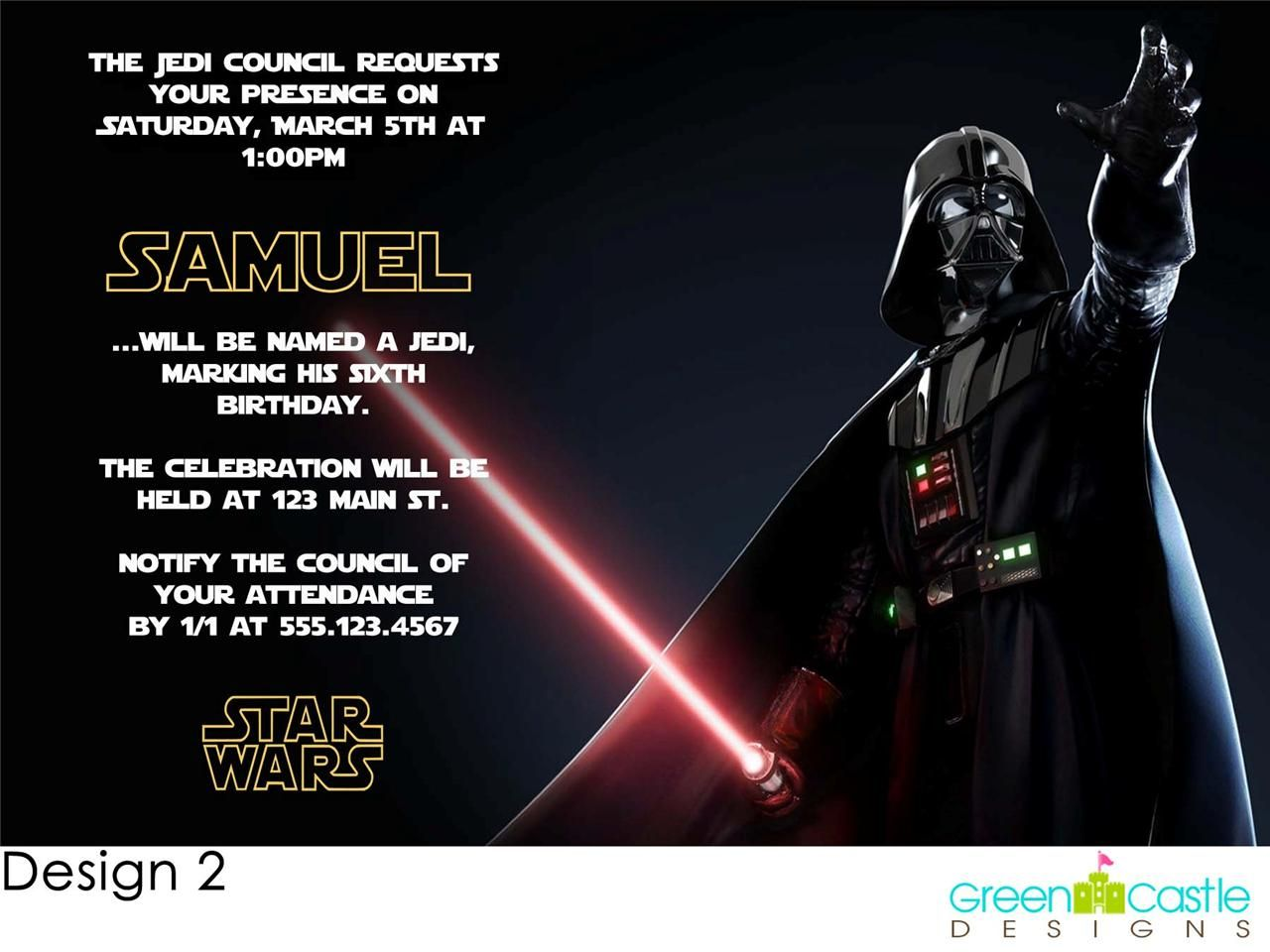 The Opened Envelope | Star Wars Darth Vader Birthday Party ...