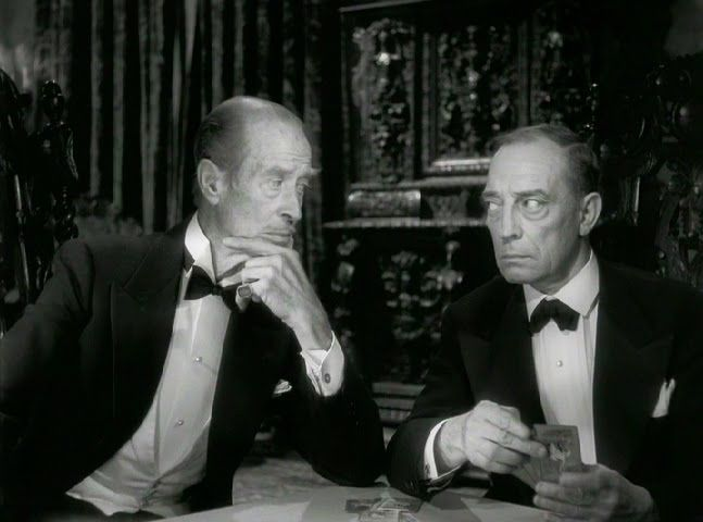 H B Warner And Buster Keaton The Waxworks From Sunset Blvd