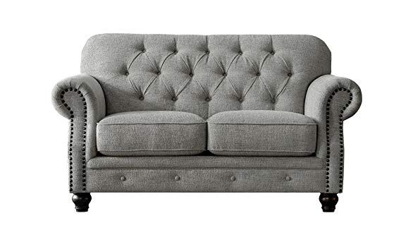 amazon acanva chesterfield chenille living room sofa