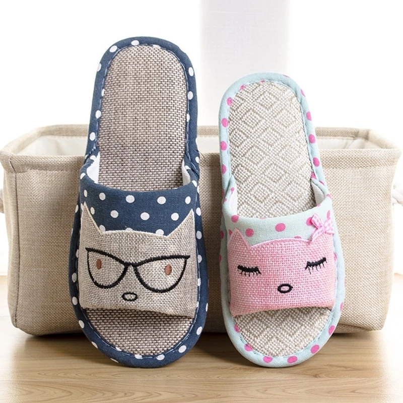 Photo of Hemp Flax Cat Slippers