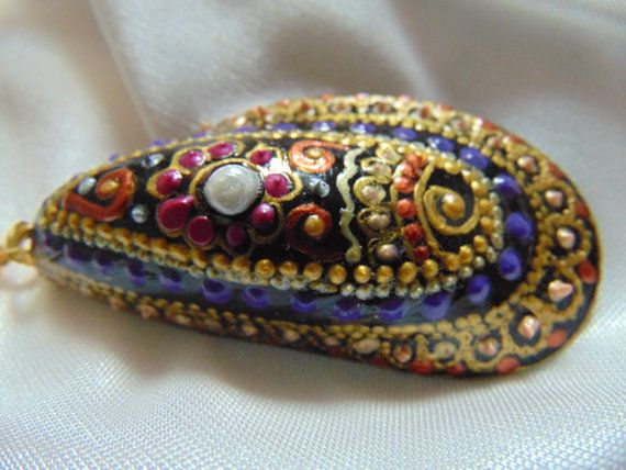 Real Seashell Pendant Resin Pendant Seashell Jewelry by MarinaArts