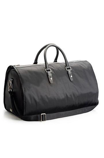 604d38a51 Nylon and Leather 'Teodoros' Travel Bag, Black (Hugo Boss ...