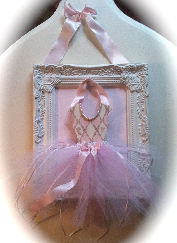 Framed Ballerina Princess Wall Art