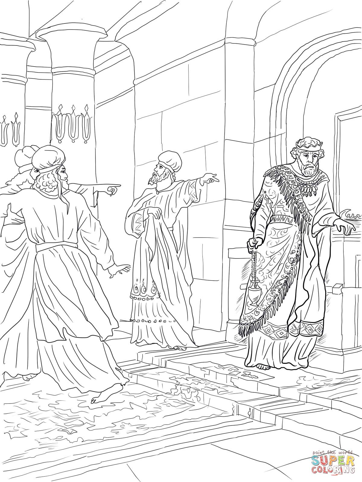 King Uzziah Disobeyed The Lord Coloring Page Supercoloring Com