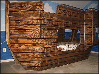 PirateShipThemeChildrensBedBlueprintspiratethemebedroom - Kids pirate bedroom furniture
