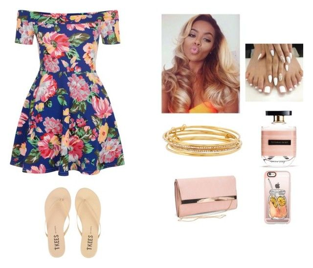 """""""Tamia"""" by luvtae ❤ liked on Polyvore featuring New Look, Tkees, Kate Spade, Victoria's Secret and Casetify"""