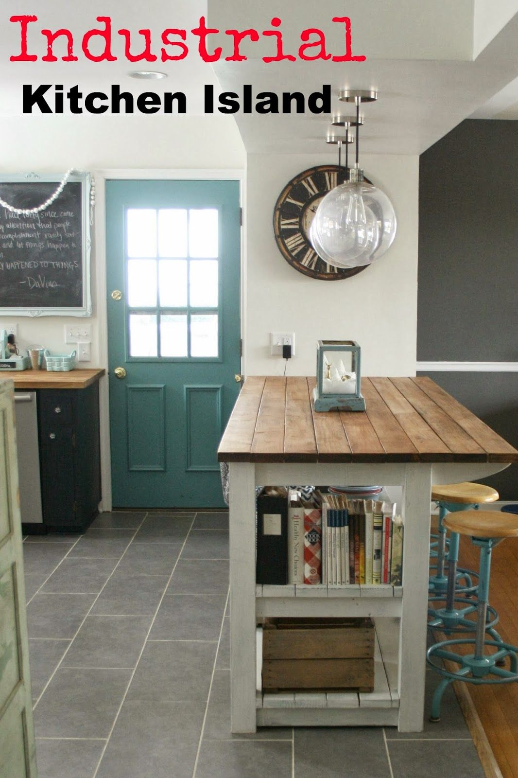 My industrial look kitchen island and that time i messed up primitive and proper
