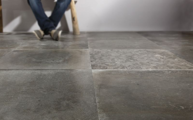 Get The Industrial Look With A Polished Concrete Tile Concrete Tiles Tile Design And