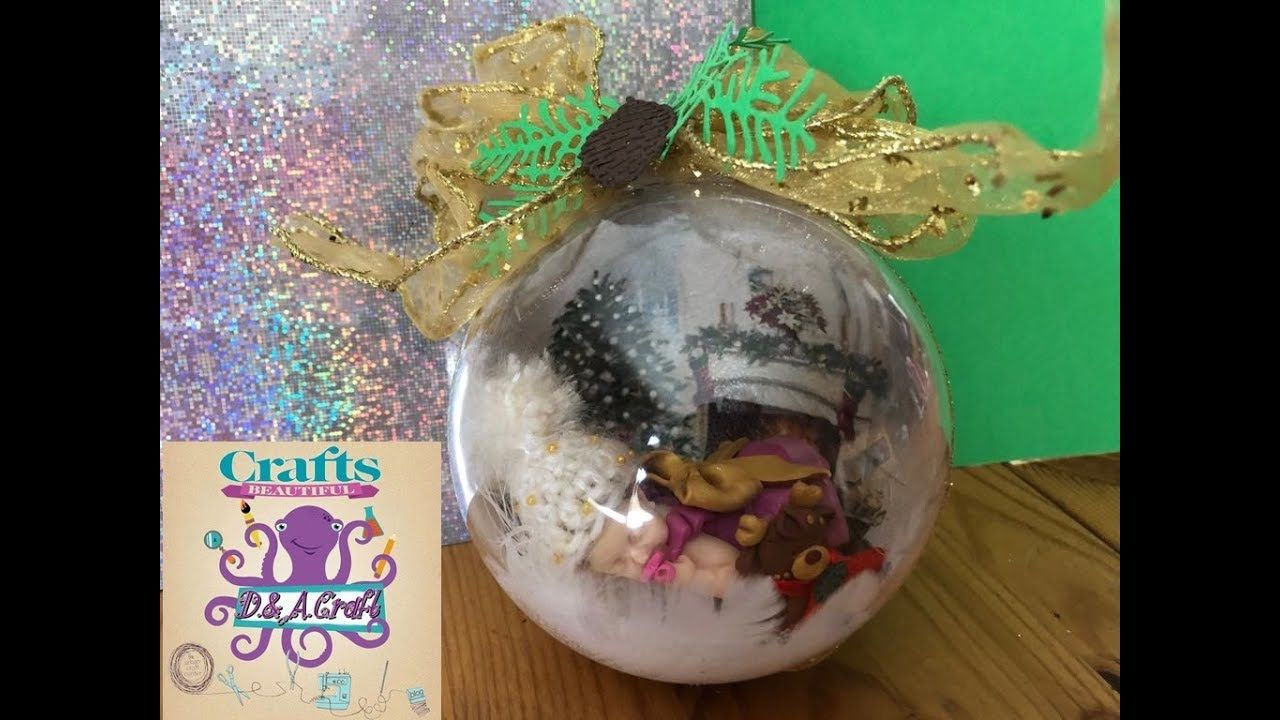 DIY How to make Christmas ornament with little baby