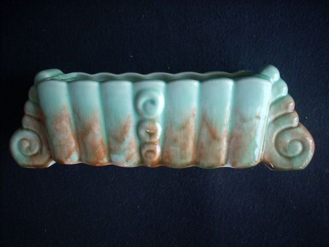 Very Colourful Large Diana Trough Vase Australian Pottery By The