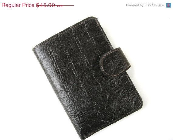 48 HOURS SALE PATTERNED Dark Brown  a small by AmielLeatherDesign, $36.00