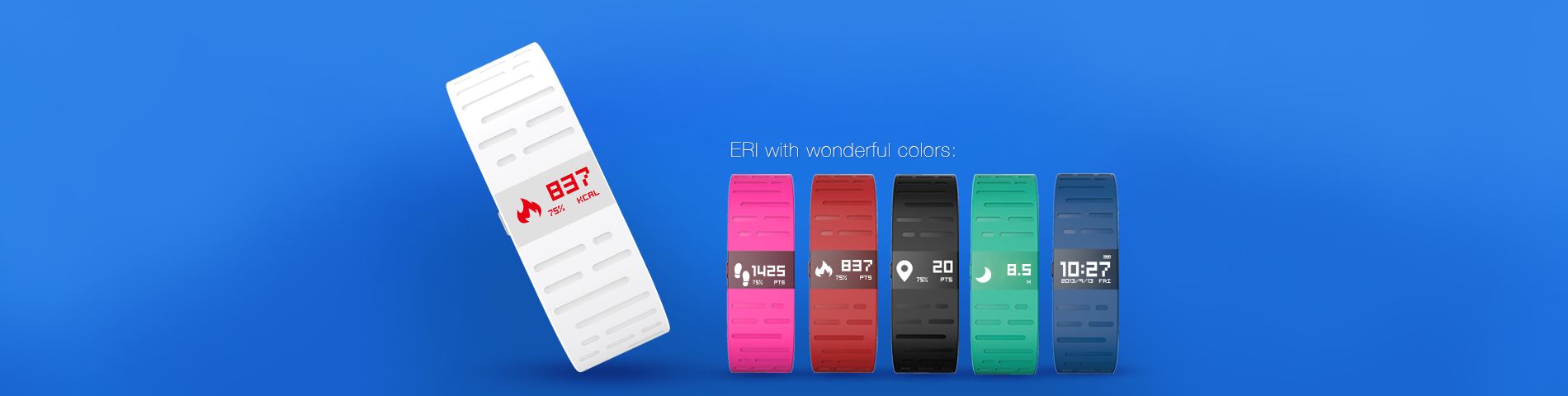 ERI - The thinnest route tracking smart sport wristband.