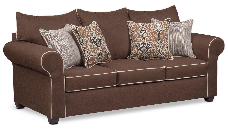Carla Queen Innerspring Sleeper Sofa Chocolate Sofa